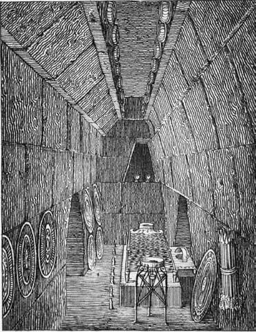 interior Regolini Galassi tomb - Grifi 1836